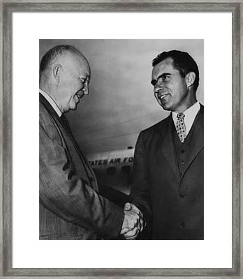 Us Presidents. Us President Dwight D Framed Print by Everett