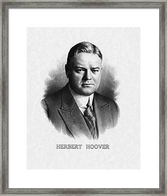 Us Presidents. Us President Herbert Framed Print by Everett