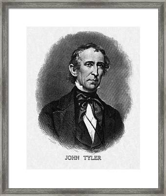 Us Presidents. Us President John Tyler Framed Print by Everett