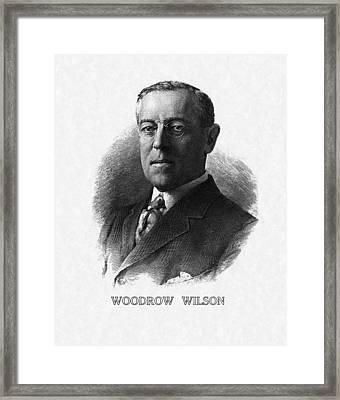 Us Presidents. Us President Woodrow Framed Print by Everett