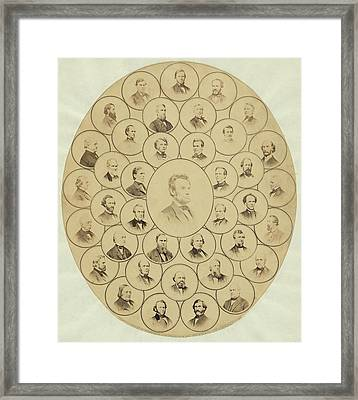 U.s. Senators Who Voted Aye On The 13th Framed Print by Everett