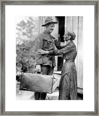 U.s. Soldier Alvin York Left Framed Print