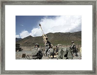 U.s. Soldiers Prepare For Their Next Framed Print by Stocktrek Images