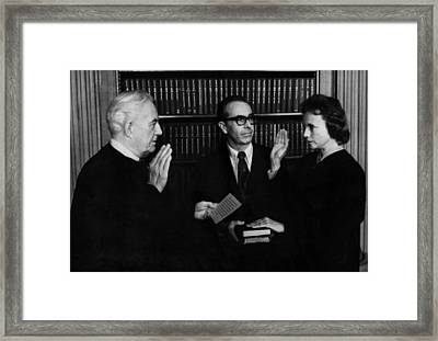 Us Supreme Court. From Left Chief Framed Print by Everett