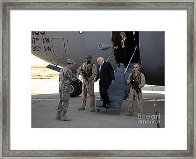 U.s. Vice President, Dick Cheney Framed Print by Stocktrek Images