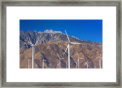 Usa, California, Palm Springs, Wind Farm Framed Print