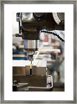Usa, California, Santa Ana, Manufacturing Equipment Framed Print by Erik Isakson