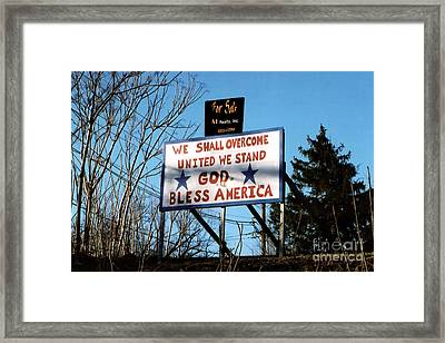 Usa For Sale Framed Print