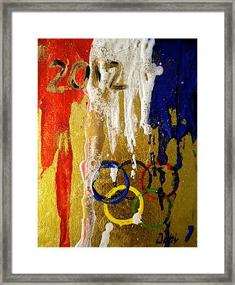 Usa Strives For The Gold Framed Print by Debi Starr