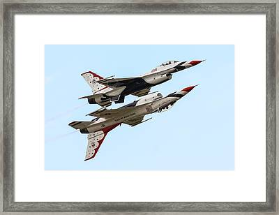 Usaf Thunderbirds Display Pair Framed Print