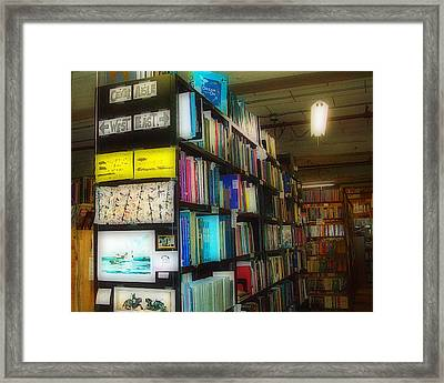 Framed Print featuring the photograph Used Books - Dream On by MJ Olsen