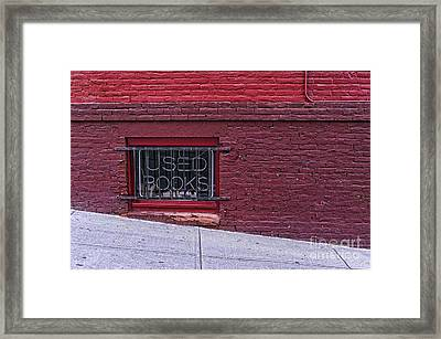 Used Books Framed Print