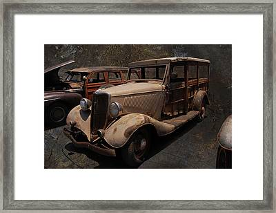 Used Car Lot Framed Print