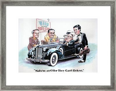 Used Car Salesmen Framed Print by Harry West
