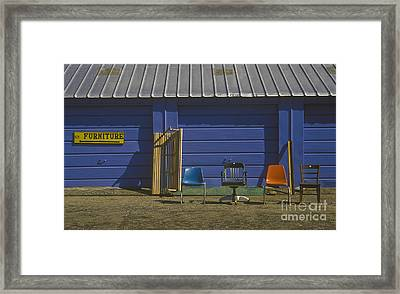 Used Chairs For Sale, Darlington, South Carolina Framed Print by Will & Deni McIntyre