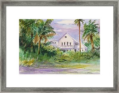 Usepa Island House Framed Print by Heidi Patricio-Nadon