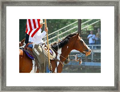 Using The War Bridle Framed Print