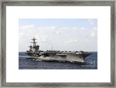Uss Carl Vinson Underway In The Arabian Framed Print by Stocktrek Images