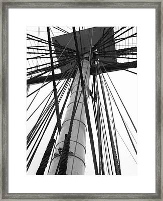Uss Constitution Mast Framed Print by David Yunker