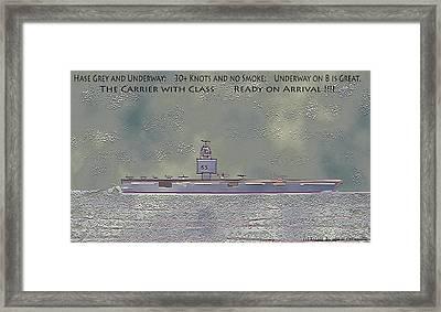 Uss Enterprise Cvan 65 Framed Print by Carl Deaville
