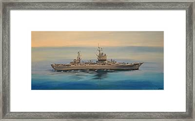 Uss Long Beach Framed Print