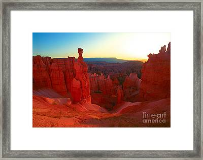 Utah - Thor's Hammer Framed Print by Terry Elniski