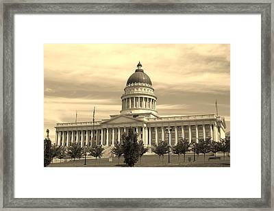 Utah State Capital Framed Print