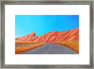 Utah Westbound Framed Print
