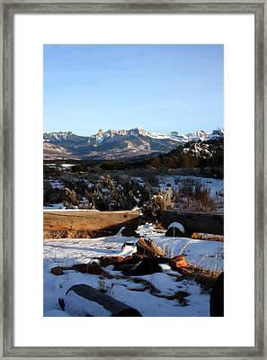 Framed Print featuring the photograph Ute Indian Fire Ring by Marta Alfred