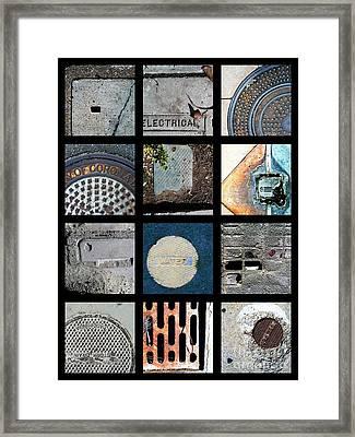 Utilities Framed Print by Marlene Burns