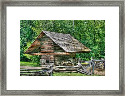 Utility And Service Framed Print by Barry Jones
