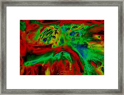 Uv Solar - Red Framed Print by Colleen Cannon