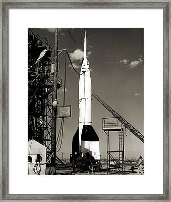 V-2 Bumper Rocket Launch In Usa Framed Print by Detlev Van Ravenswaay