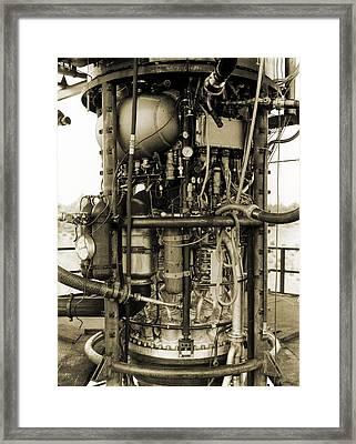 V-2 Rocket Engine Framed Print by Detlev Van Ravenswaay