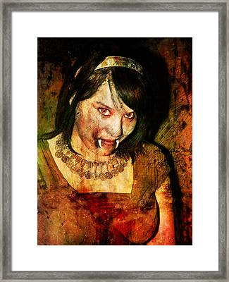 V Girl Framed Print