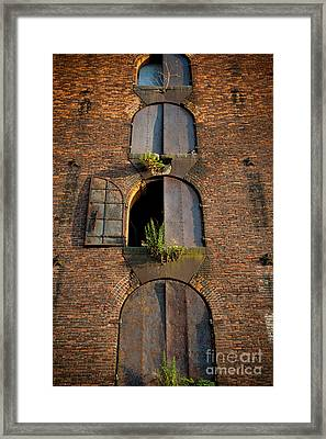 Vacant Windows Framed Print by Cassandra Lemon