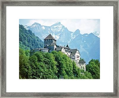 Vaduz Castle Lichtenstein Framed Print