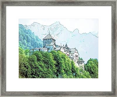 Vaduz Castle Vaduz Lichtenstein Framed Print by Joseph Hendrix