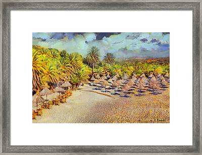 Vai Forest Framed Print by George Rossidis
