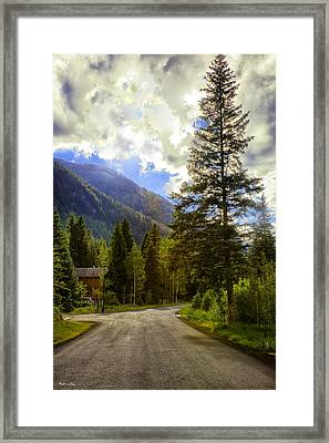 Vail Country Road 1 Framed Print