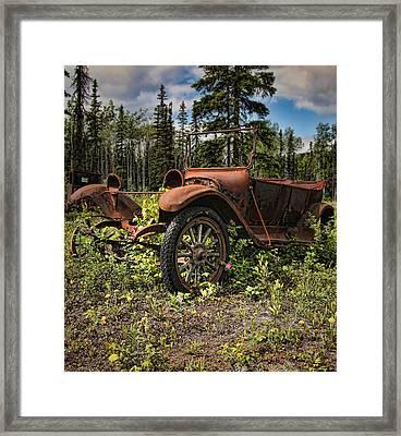 Valdez To Fairbanks Taxi Framed Print
