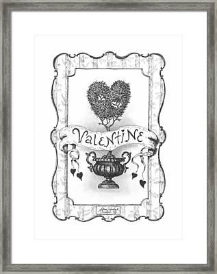 Valentine Framed Print by Adam Zebediah Joseph