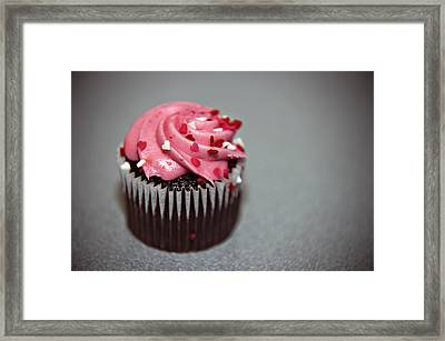 Valentines Cupcake Framed Print by Malania Hammer