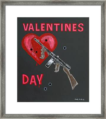 Valentines Day Framed Print by One Rude Dawg Orcutt