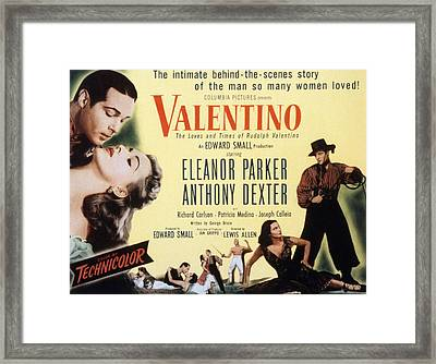 Valentino, Anthony Dexter, Eleanor Framed Print