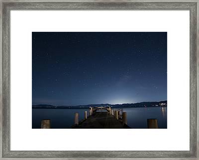 Valhalla Pier Star Gazing Framed Print by Brad Scott