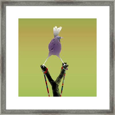 Valiant Bird Framed Print