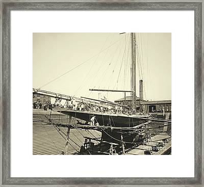 Valkyrie IIi In Erie Basin 1895 Framed Print by Padre Art