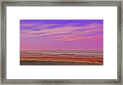 Valley Glow Framed Print by Jim Justinick