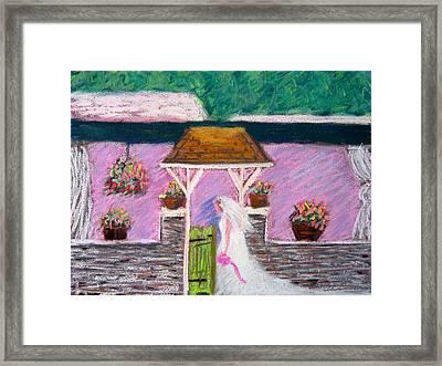 Valley Green Bride Framed Print by Marita McVeigh